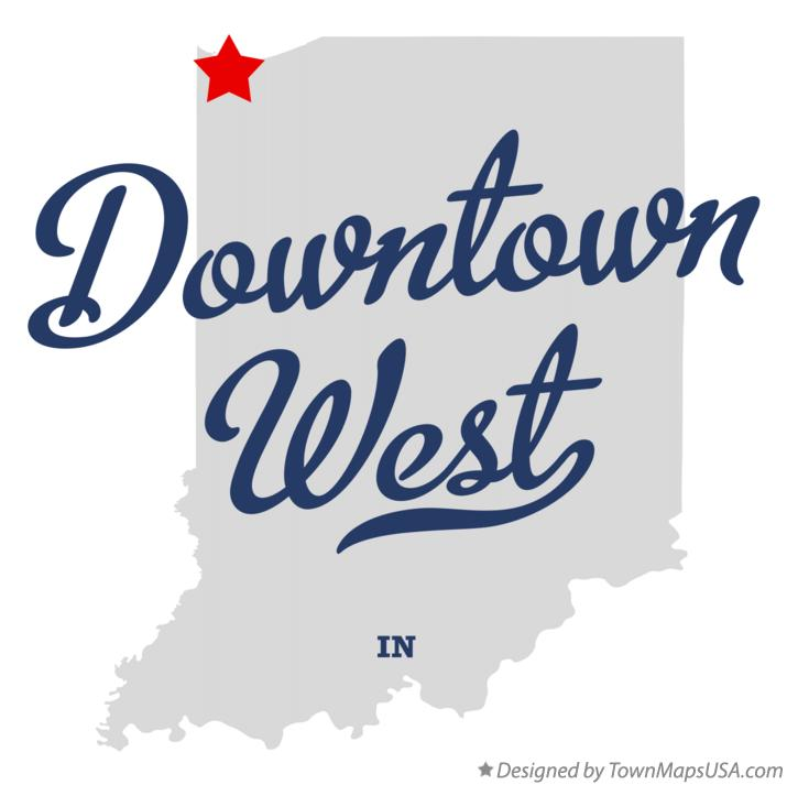 Map of Downtown West Indiana IN