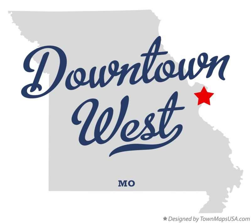 Map of Downtown West Missouri MO