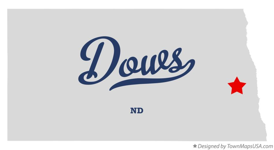 Map of Dows North Dakota ND