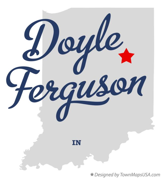 Map of Doyle Ferguson Indiana IN