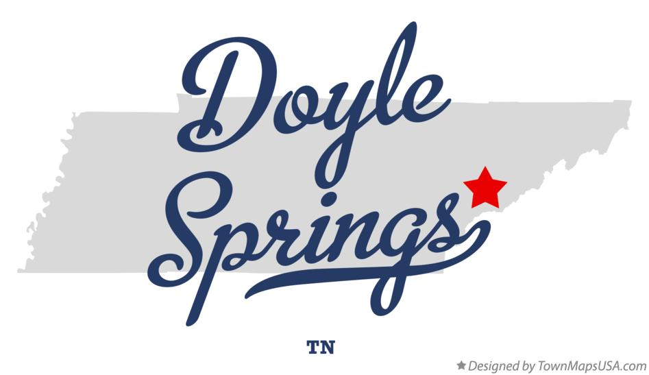 Map of Doyle Springs Tennessee TN