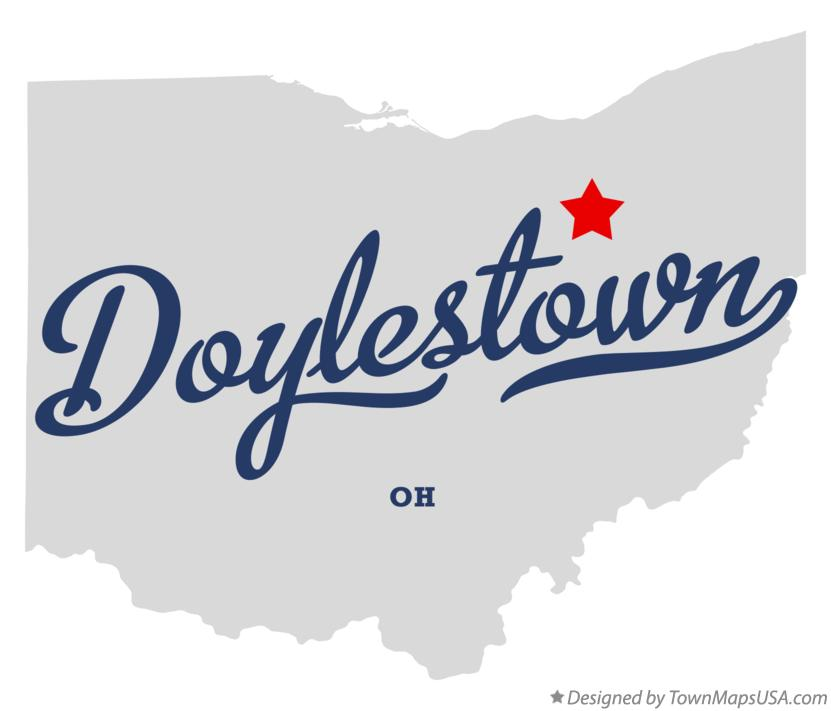 Map of Doylestown Ohio OH