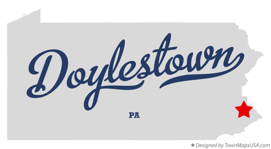 Map of Doylestown Pennsylvania PA