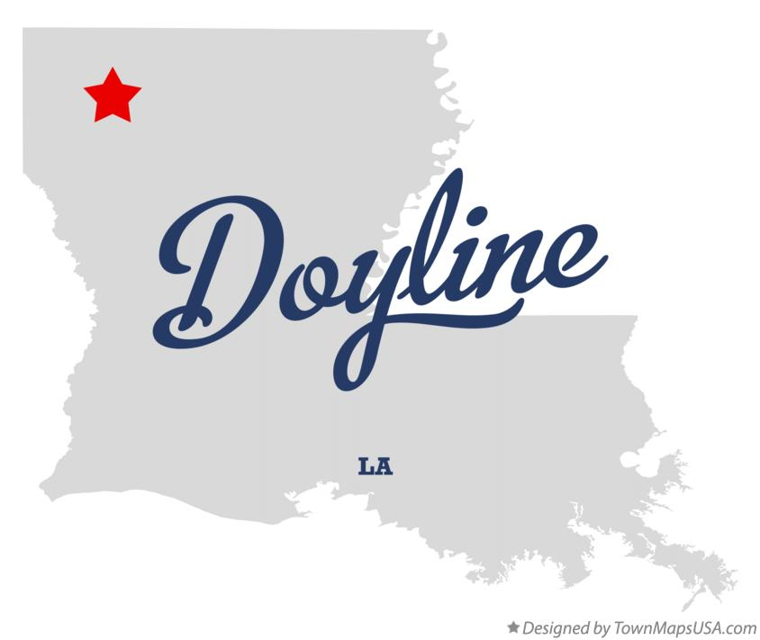 Map of Doyline Louisiana LA
