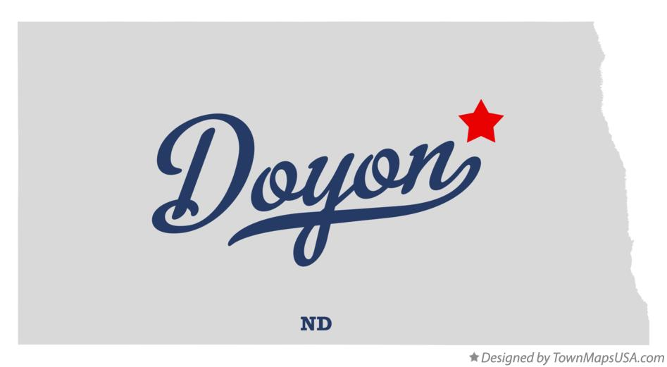 Map of Doyon North Dakota ND