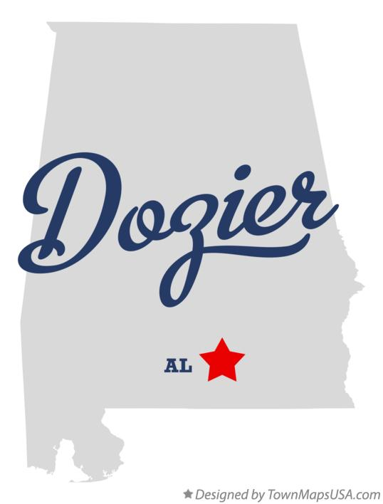 Map of Dozier Alabama AL