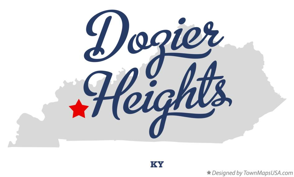 Map of Dozier Heights Kentucky KY