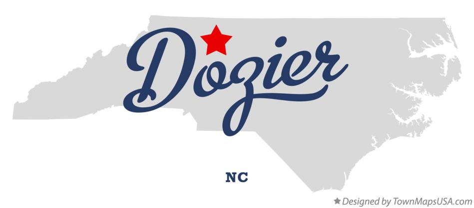 Map of Dozier North Carolina NC