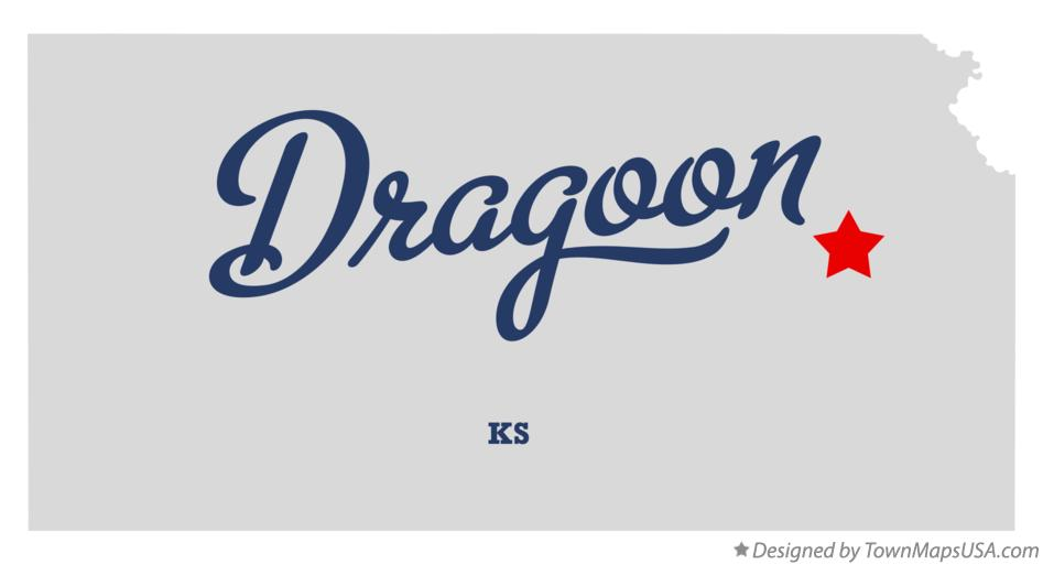 Map of Dragoon Kansas KS