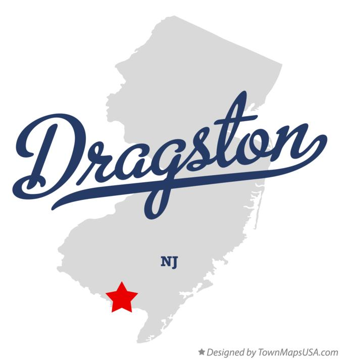 Map of Dragston New Jersey NJ