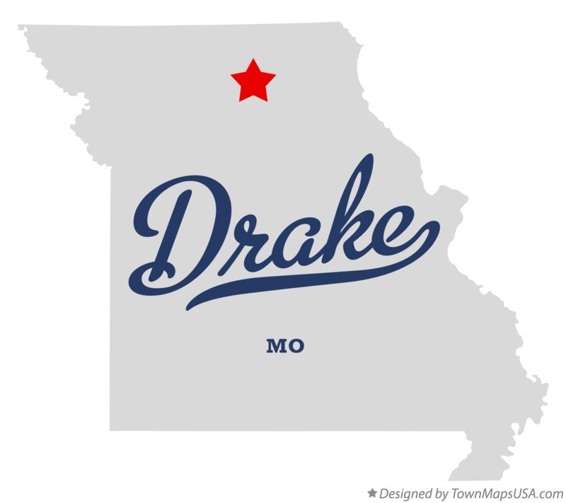 Map of Drake Missouri MO