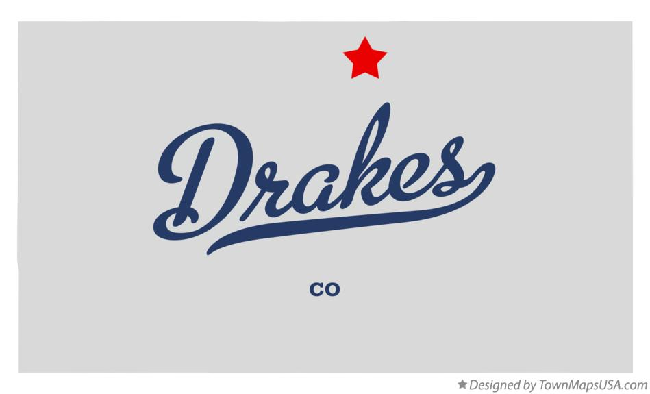 Map of Drakes Colorado CO