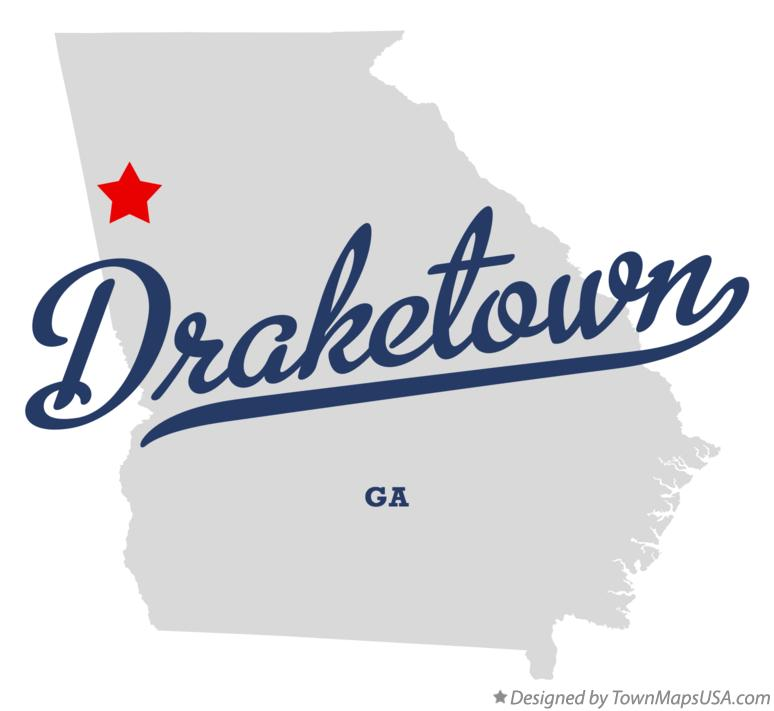 Map of Draketown Georgia GA