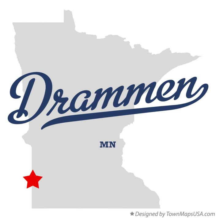 Map of Drammen Minnesota MN