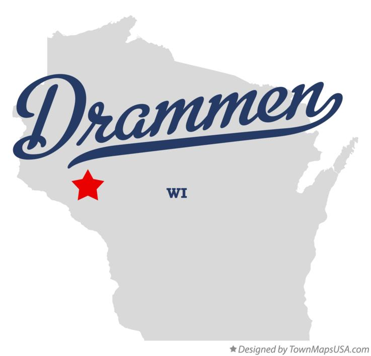 Map of Drammen Wisconsin WI