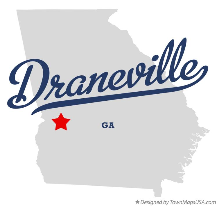 Map of Draneville Georgia GA