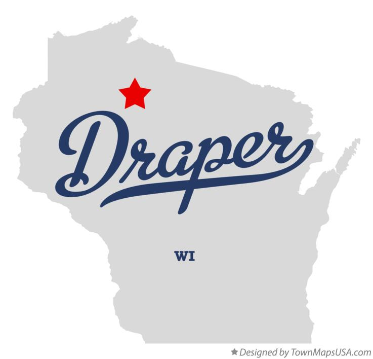 Map of Draper Wisconsin WI