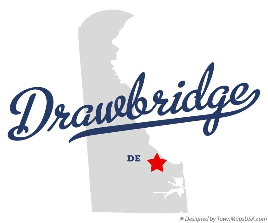 Map of Drawbridge Delaware DE