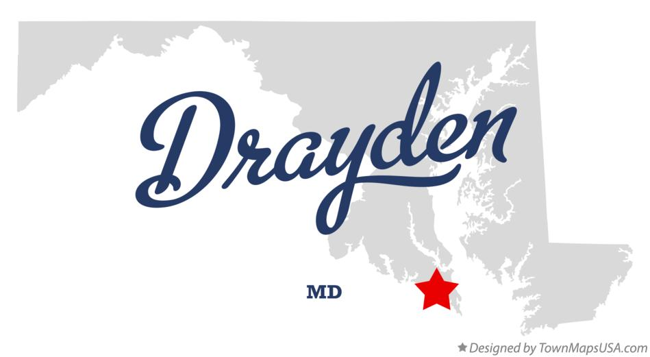 Map of Drayden Maryland MD