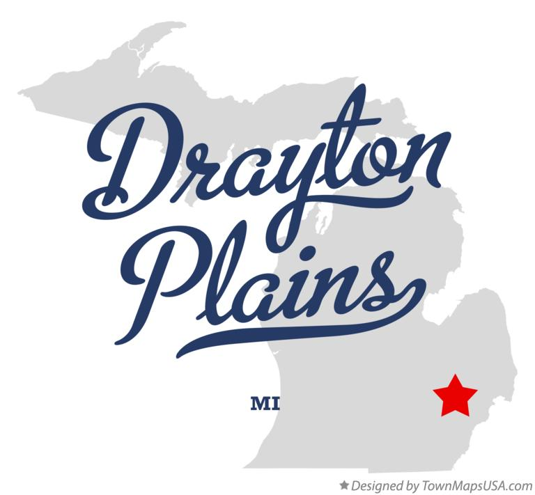 Map of Drayton Plains Michigan MI