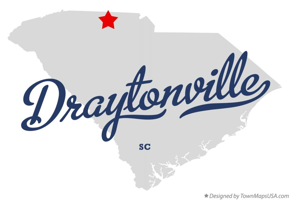 Map of Draytonville South Carolina SC