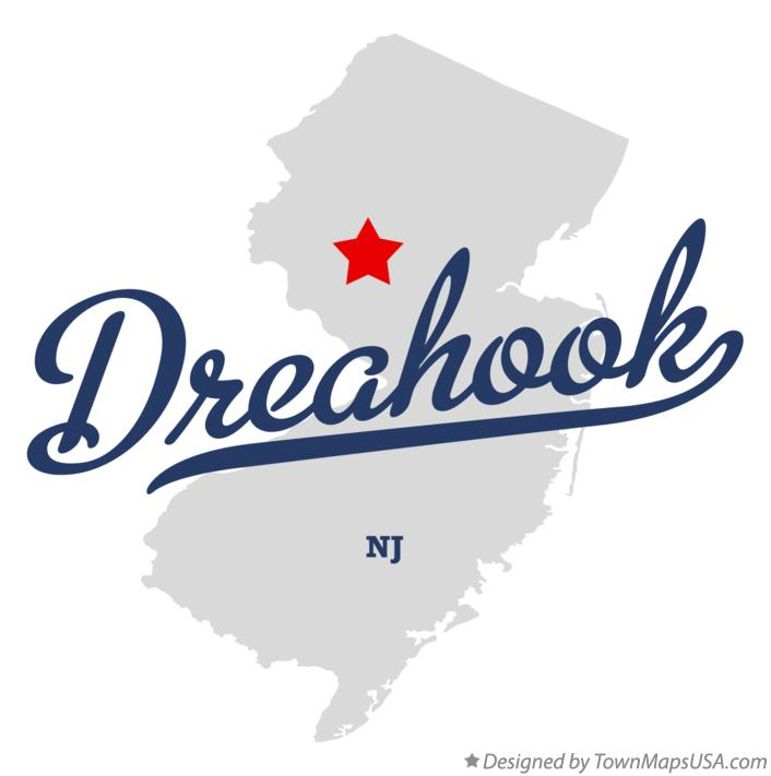 Map of Dreahook New Jersey NJ