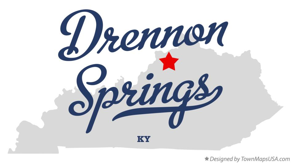 Map of Drennon Springs Kentucky KY