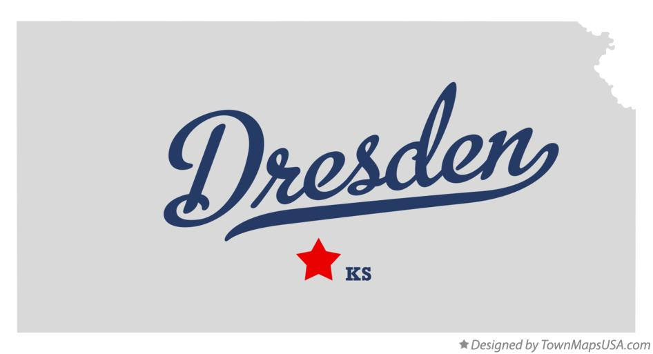 Map of Dresden Kansas KS