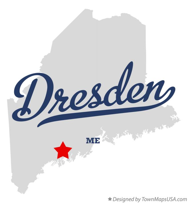 Map of Dresden Maine ME