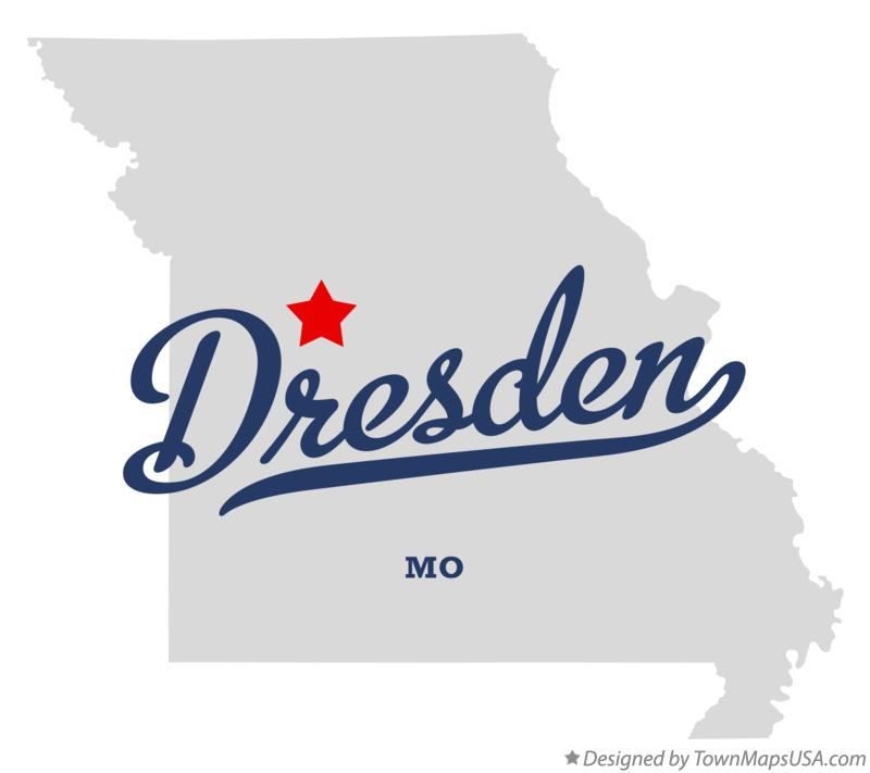 Map of Dresden Missouri MO