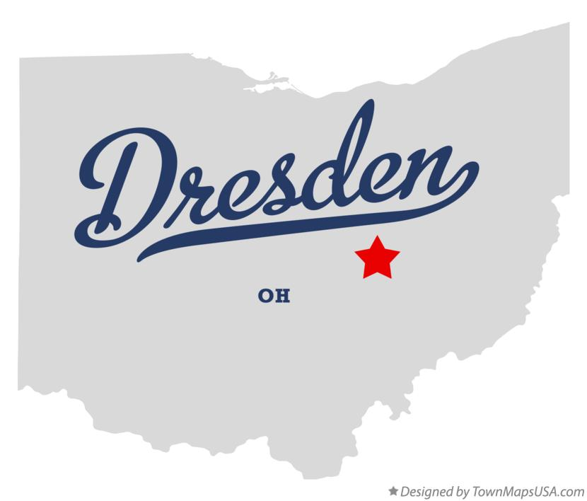 Map of Dresden Ohio OH