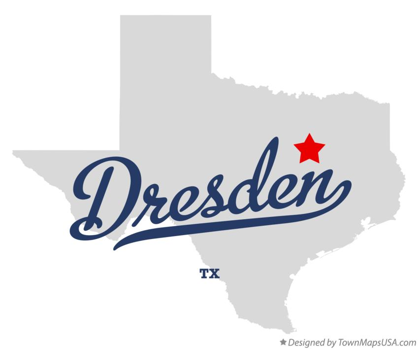 Map of Dresden Texas TX