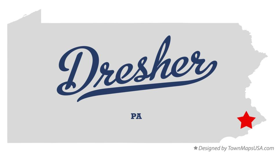 Map of Dresher Pennsylvania PA