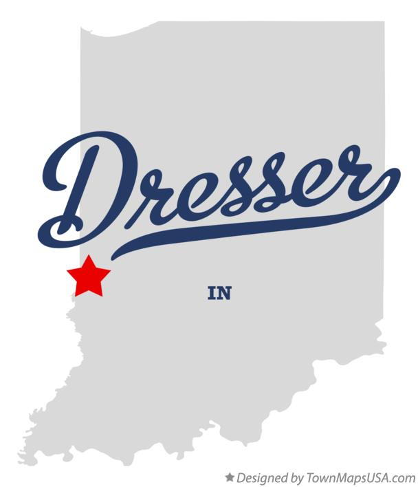 Map of Dresser Indiana IN