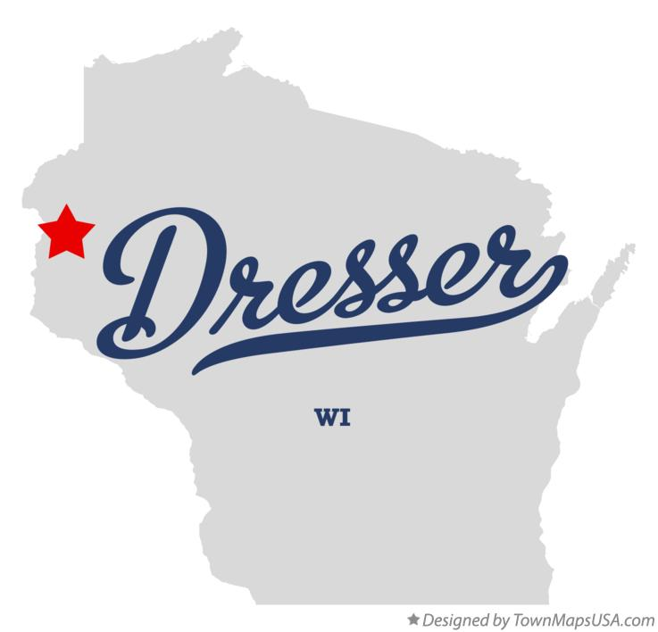 Map of Dresser Wisconsin WI
