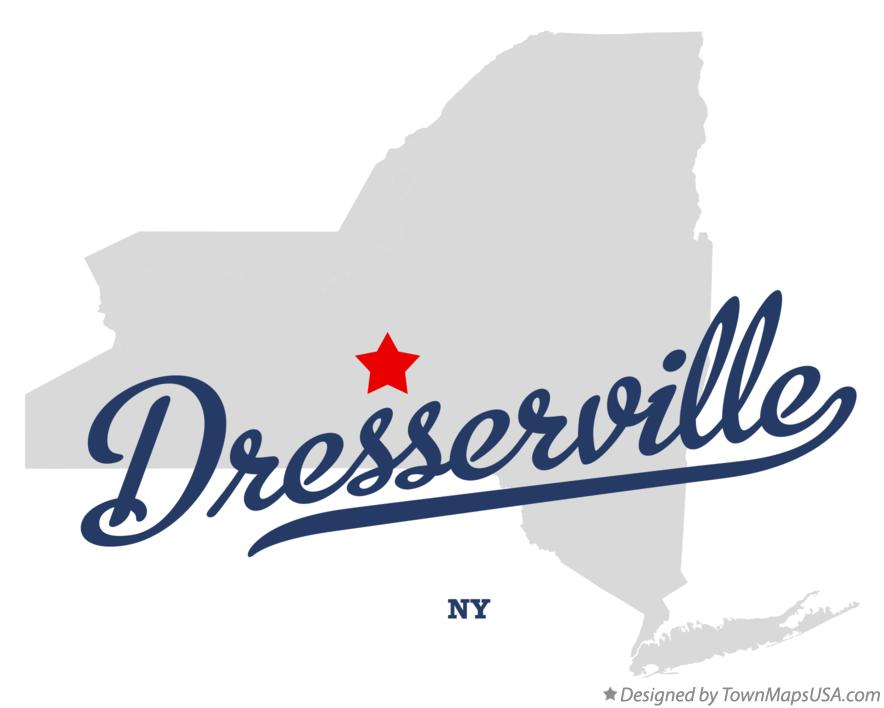 Map of Dresserville New York NY