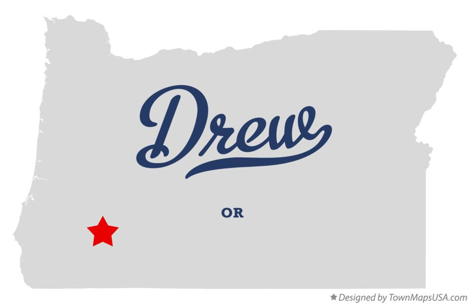 Map of Drew Oregon OR