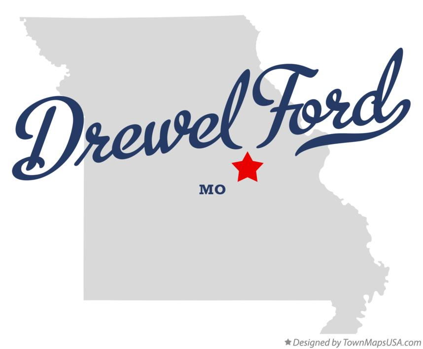 Map of Drewel Ford Missouri MO