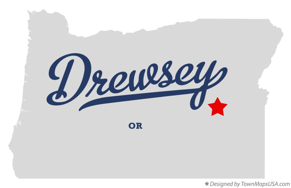 Map of Drewsey Oregon OR