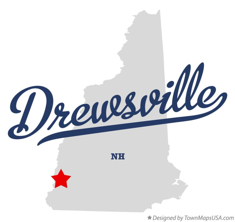 Map of Drewsville New Hampshire NH