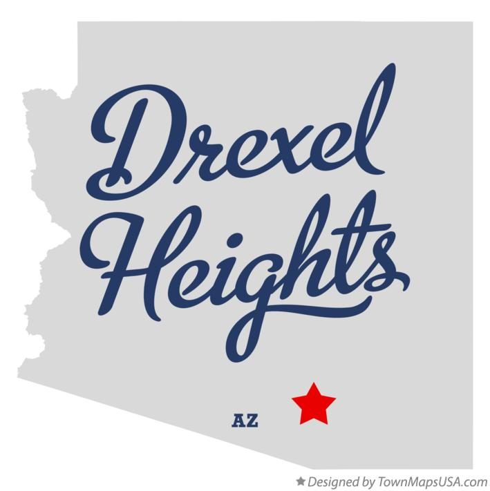 Map of Drexel Heights Arizona AZ