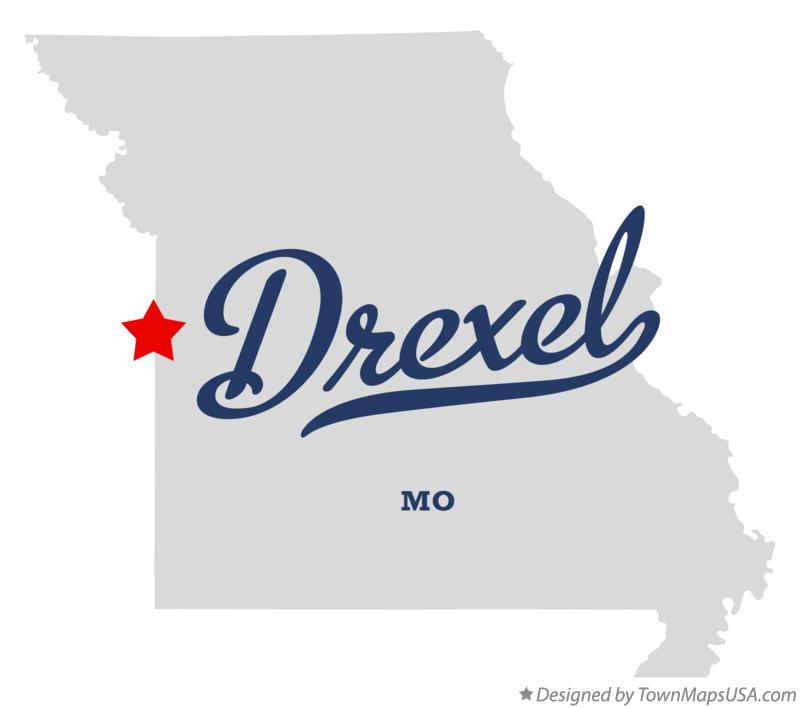Map of Drexel Missouri MO