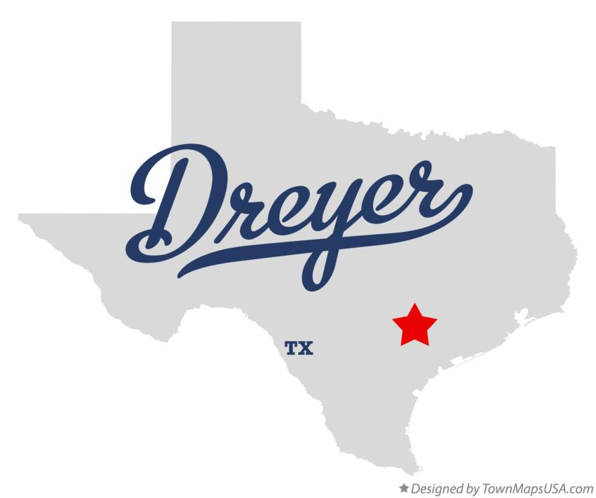 Map of Dreyer Texas TX