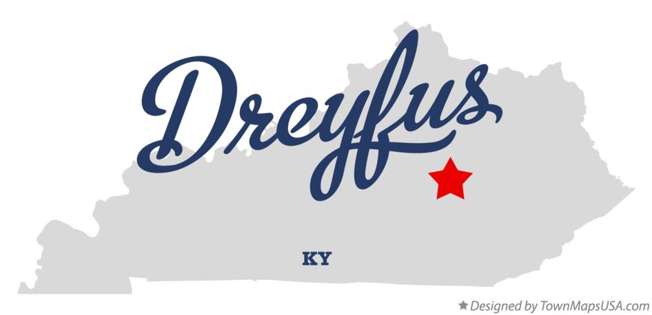 Map of Dreyfus Kentucky KY