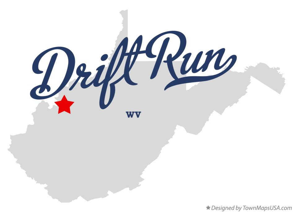 Map of Drift Run West Virginia WV