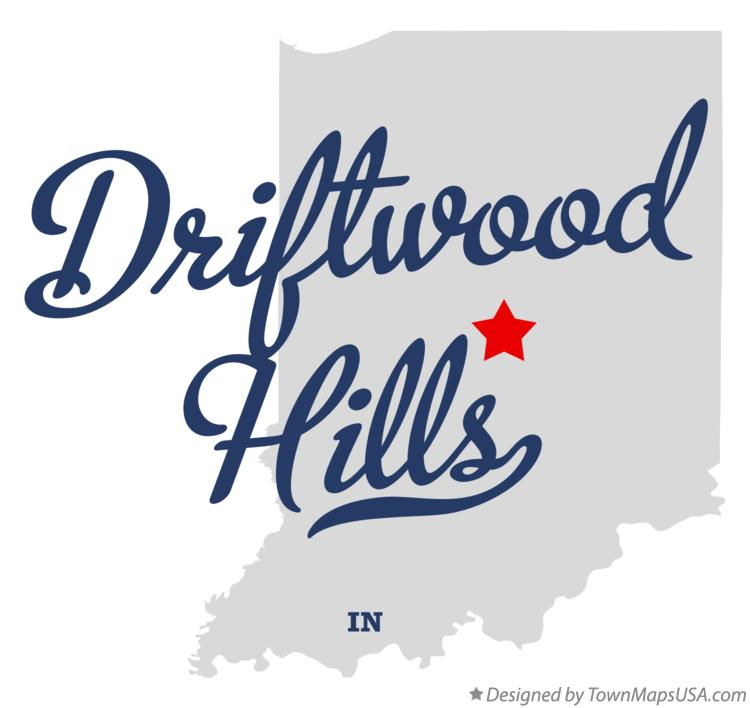 Map of Driftwood Hills Indiana IN
