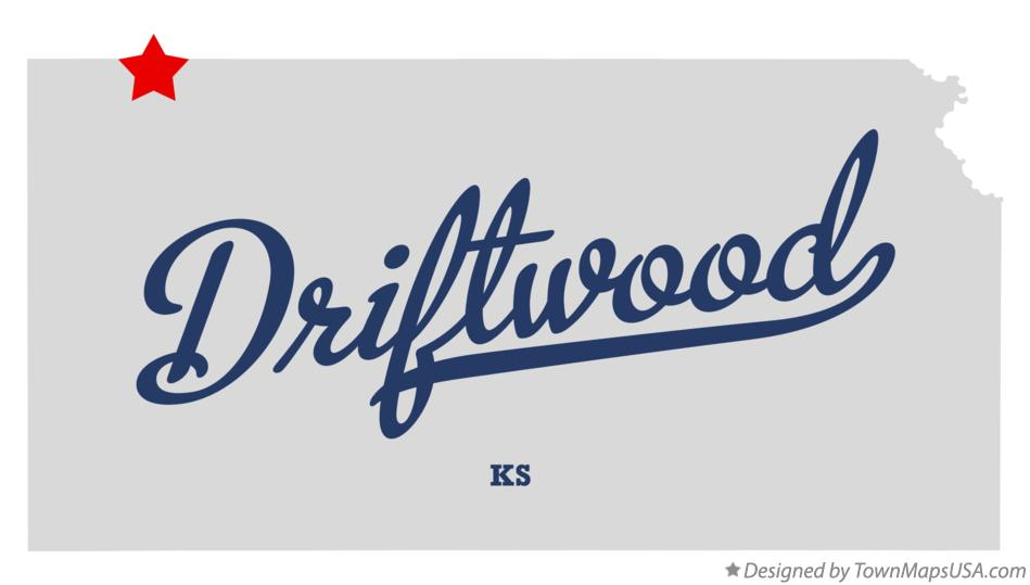 Map of Driftwood Kansas KS