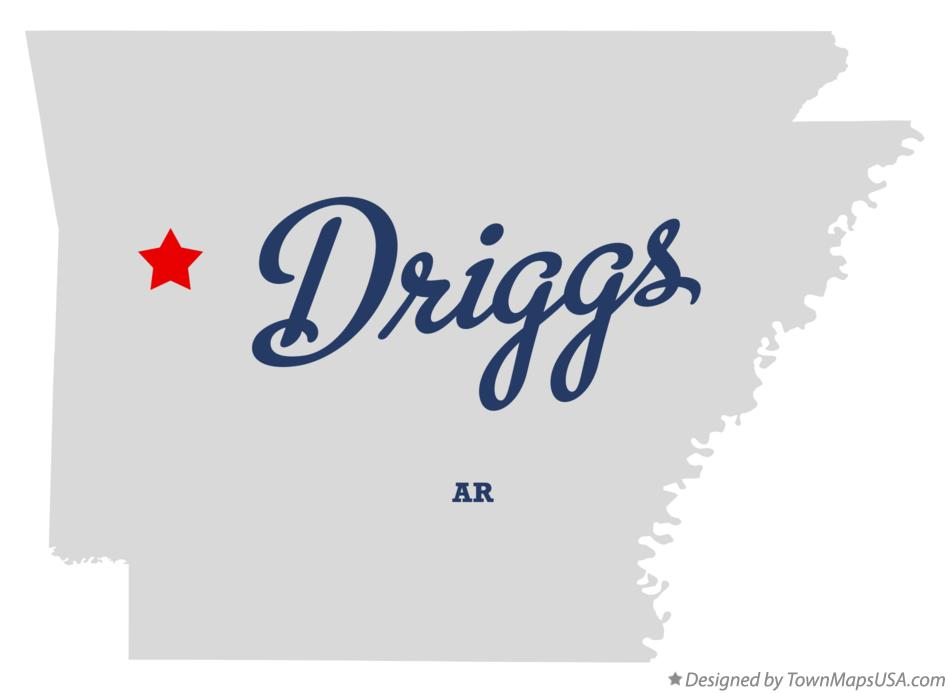 Map of Driggs Arkansas AR