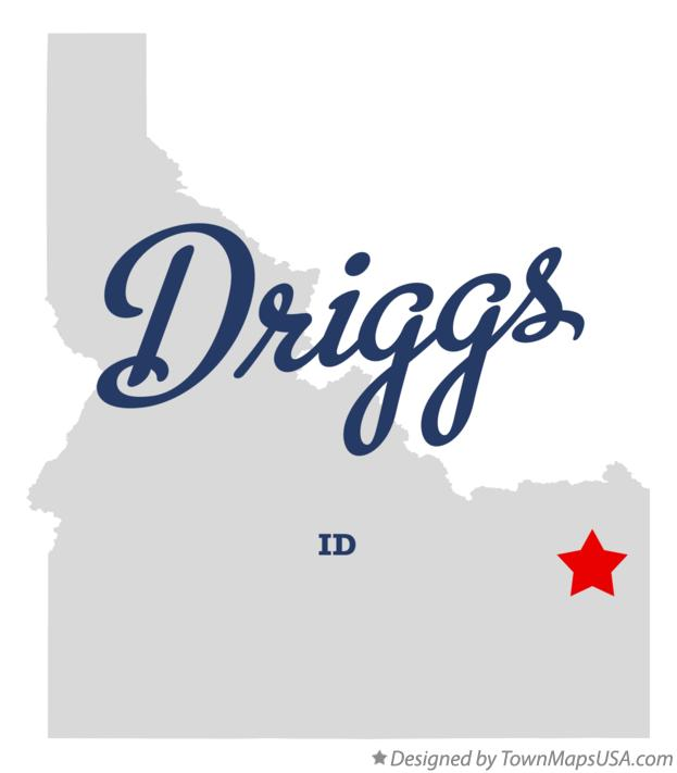Map Of Driggs Id Idaho