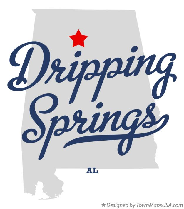 Map of Dripping Springs Alabama AL